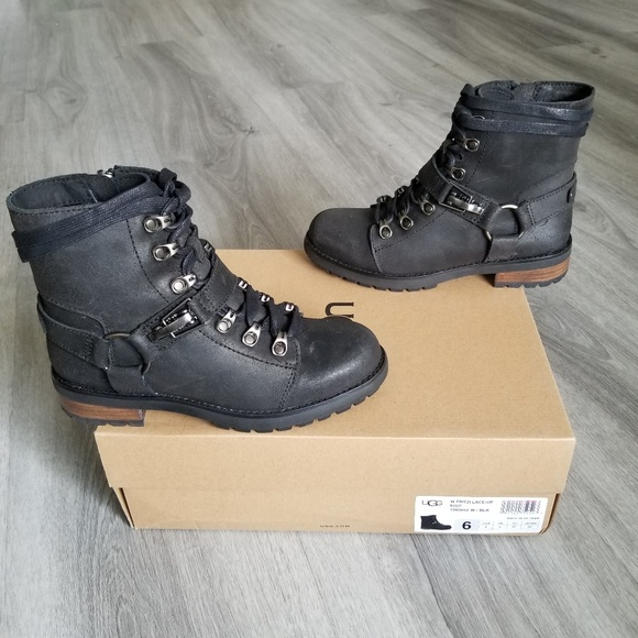 c32d7f736c5 UGG Fritzi Lace-up Water-resistant Leather Boot. NWT